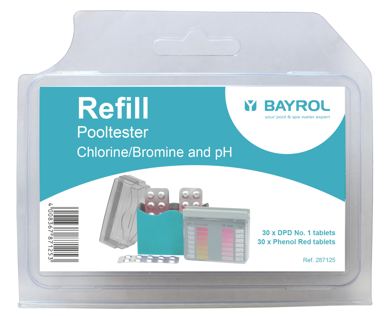 BAYROL Refill für Pooltester pH / Cl / Brom
