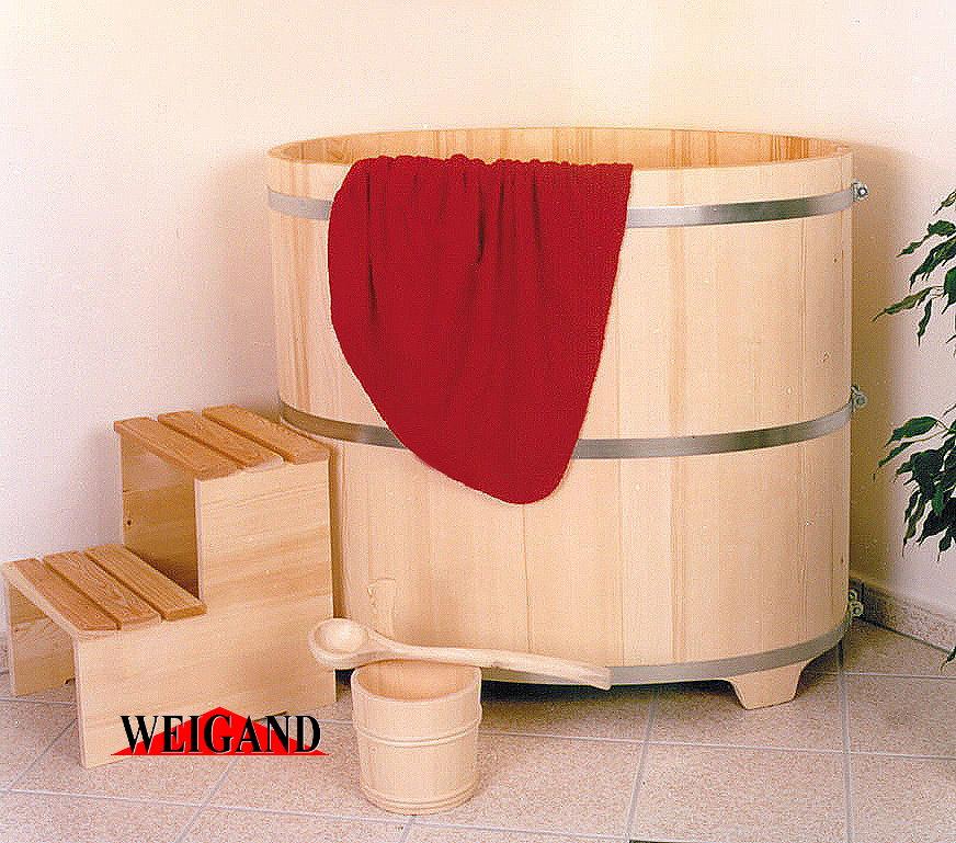 Sauna Tauchbecken Fichte I außen natur - innen farblose Beschichtung