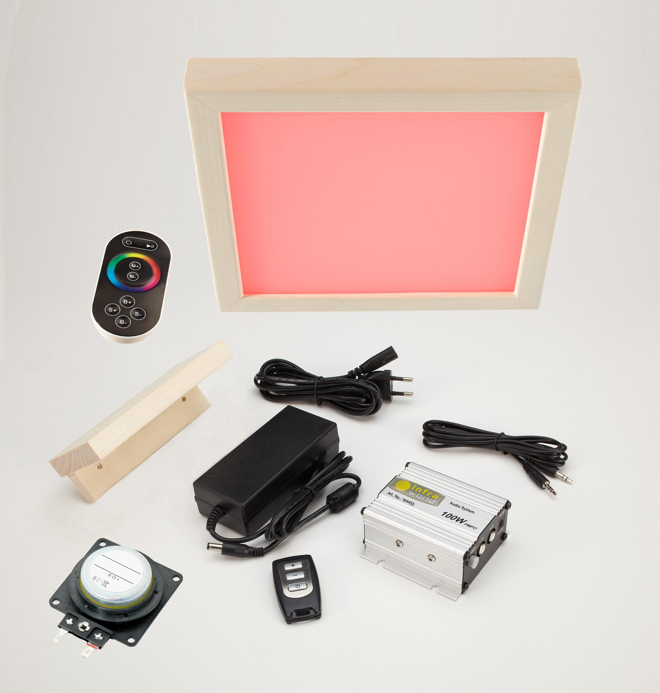 LED Farblicht Sion 1a, Audiosystem mit Bluetooth und  Lautsprecher Slim im Set