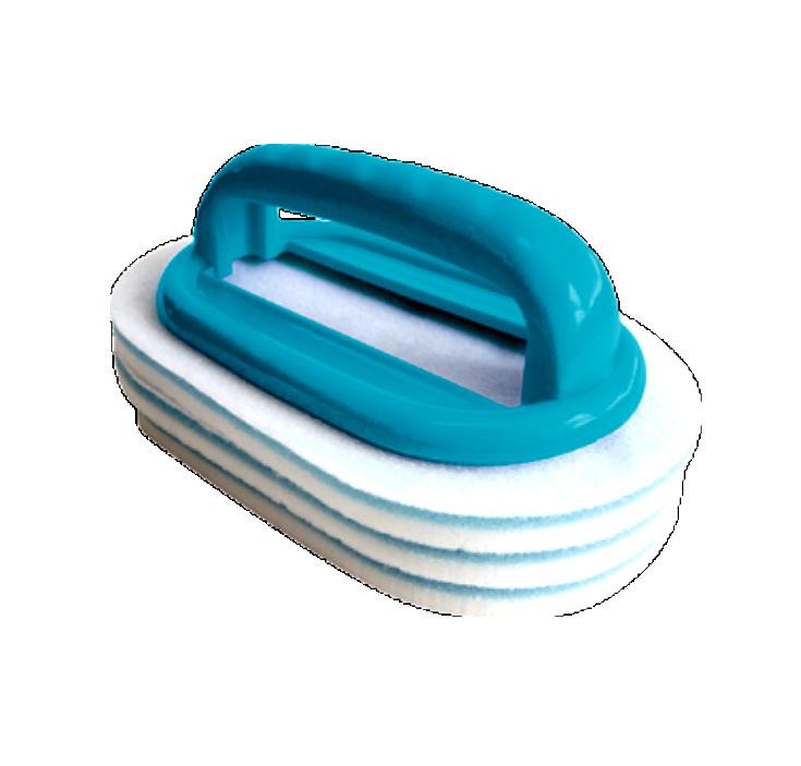 BAYROL Handbürste mit 3 Reinigungspads