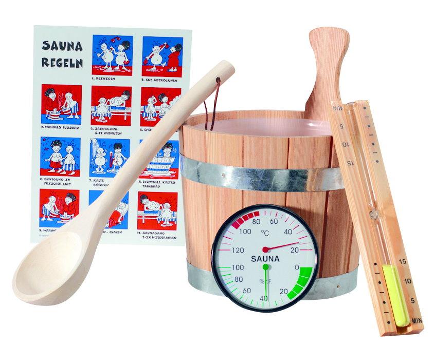 Sauna Zubehör Set Standard 6-teilig