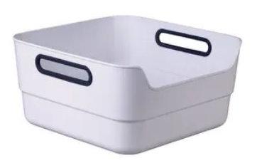 Fußbecken aus robustem Kunststoff Farbe weiß