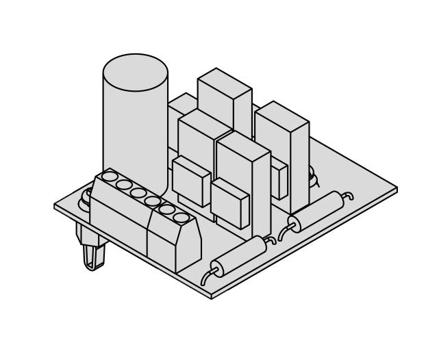 Erweiterung Farblicht Modul SBM-FL75/150 - Polwandler